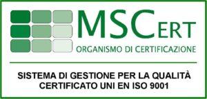 certificato iso 9001 sistel